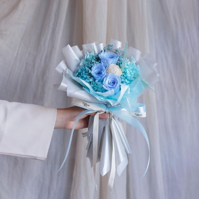 純粹・韓式乾燥永生花「天藍」 2