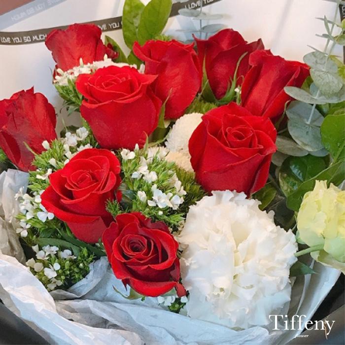 浪漫紅玫瑰鮮花束 2