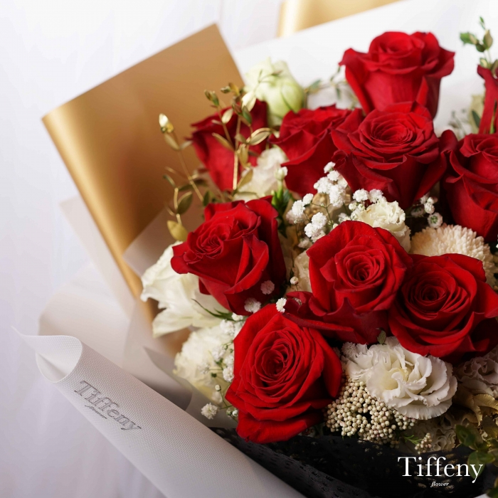 一心一意11朵玫瑰鮮花束 2